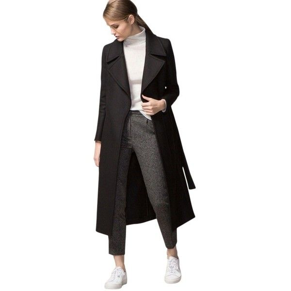 Pre-owned Massimo Dutti Long Coat ($150) ❤ liked on Polyvore ...