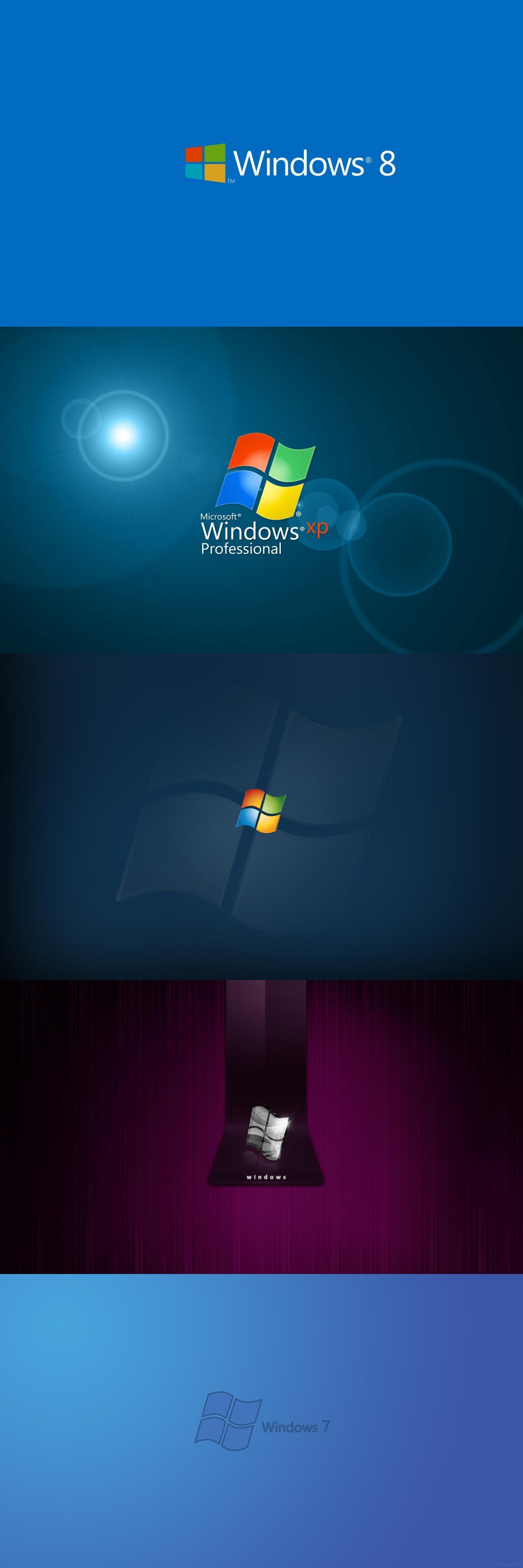 windows 7 dark blue