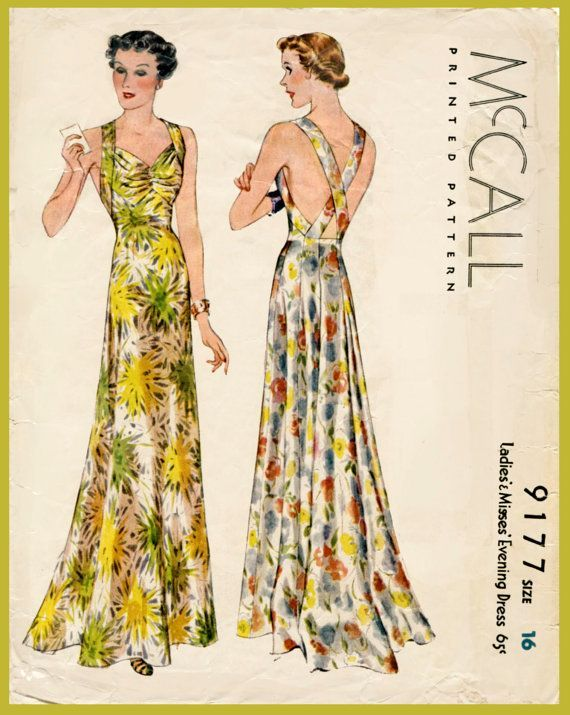 1930s vintage Alix evening gown sewing by LadyMarloweStudios ...