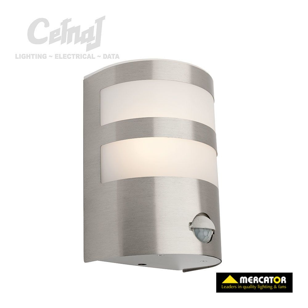 Richie exterior wall light with sensor stainless steel