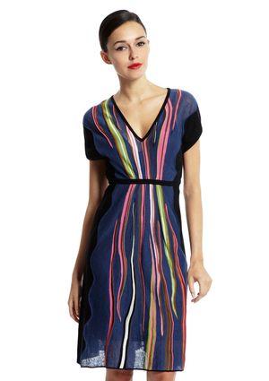 V Neck Dolman Sleeve Dress