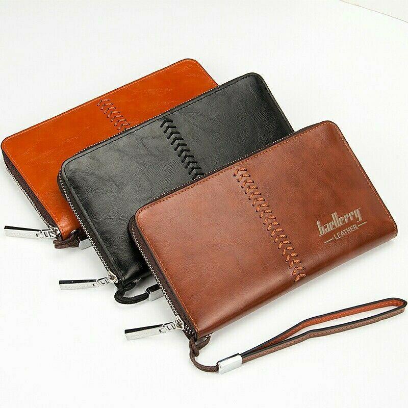 Handmade PU Leather Men/'s //Women/'s Key Package Wallet Purse Credit Card Billfold