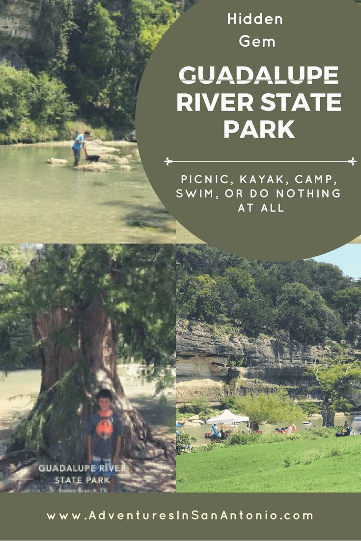 Texas State Park Guadalupe River State Park (With images
