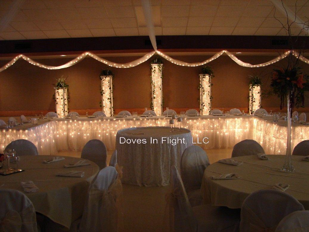 Elegant Reception Hall Wedding Decorations Reception