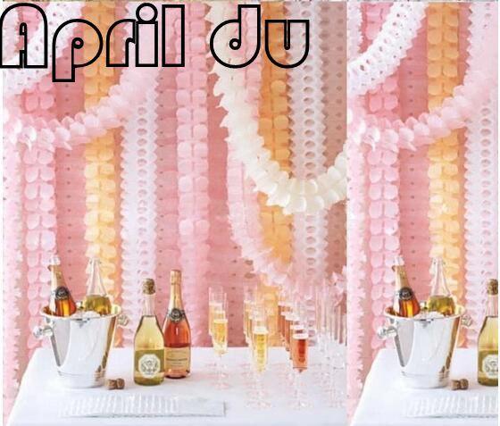 Four Leaf Clover Paper Curtains Wedding Decoration Tels Garland Ribbon Balloons Birthday Curtain Marriage Car
