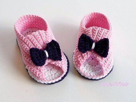 7 häkelanleitung für baby peep toes babysandalen babyschuhe ...