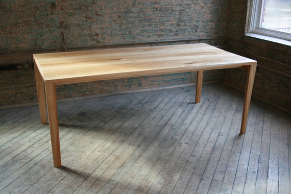 Parsons Table In Reclaimed Wood Modern With Natural Finishes Modern Dining Table Table Wood