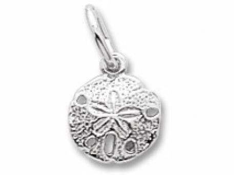 Silver Pendants/Charms - STERLING SILVER SMALL SAND DOLLAR CHARM
