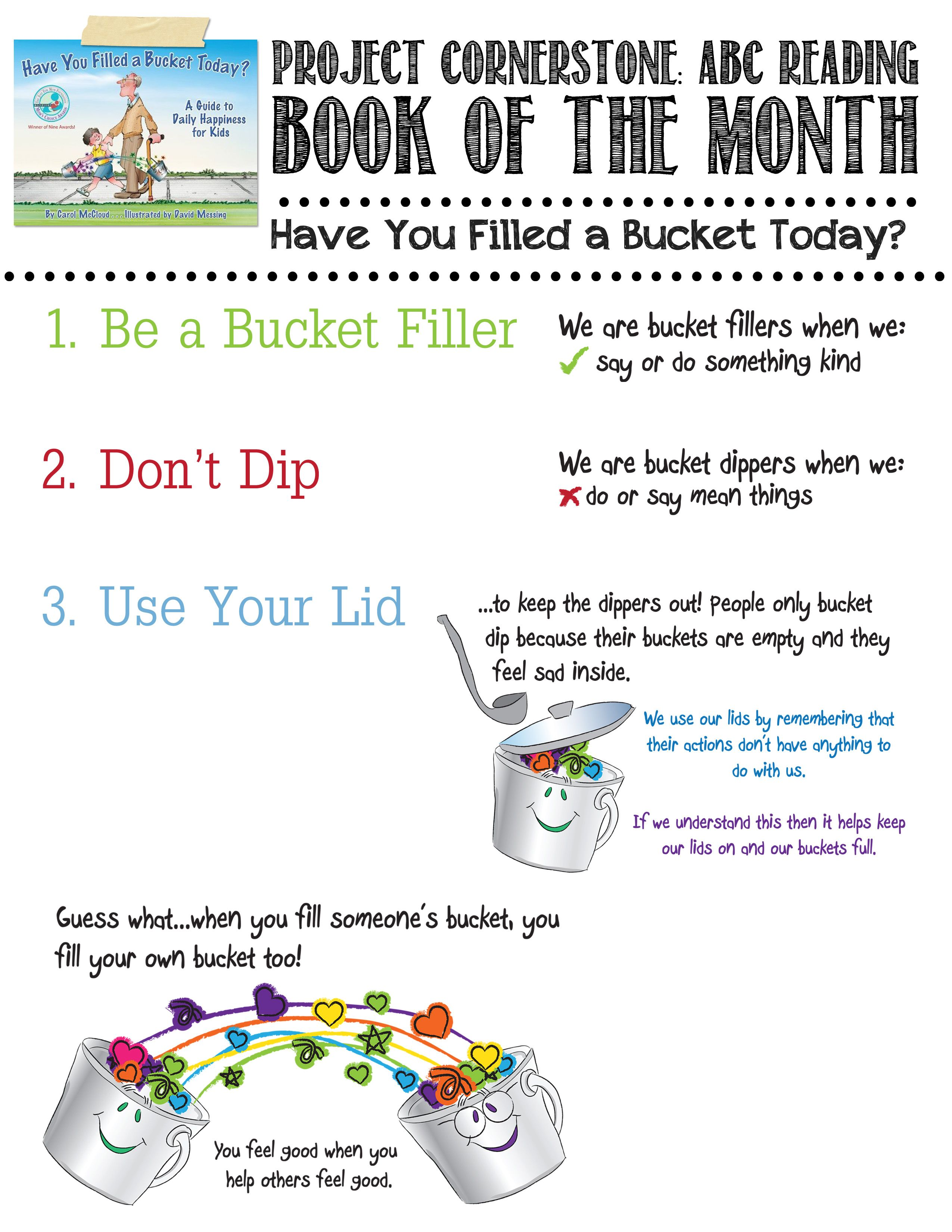 Flyer For Have You Filled A Bucket Today By Carol Mccloud