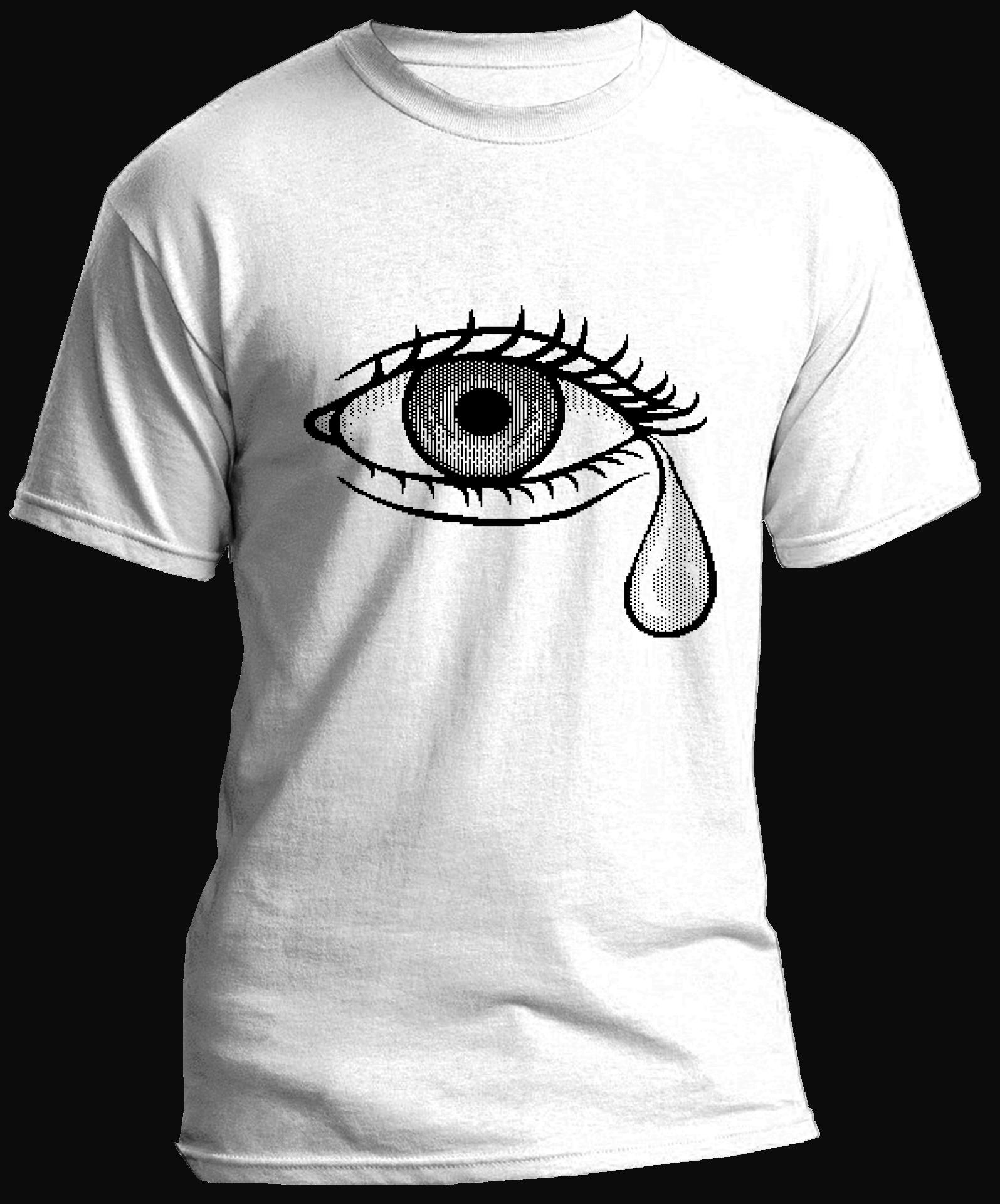 Crying Eye Pixel Art T Shirt By Wannabe Art In 2019