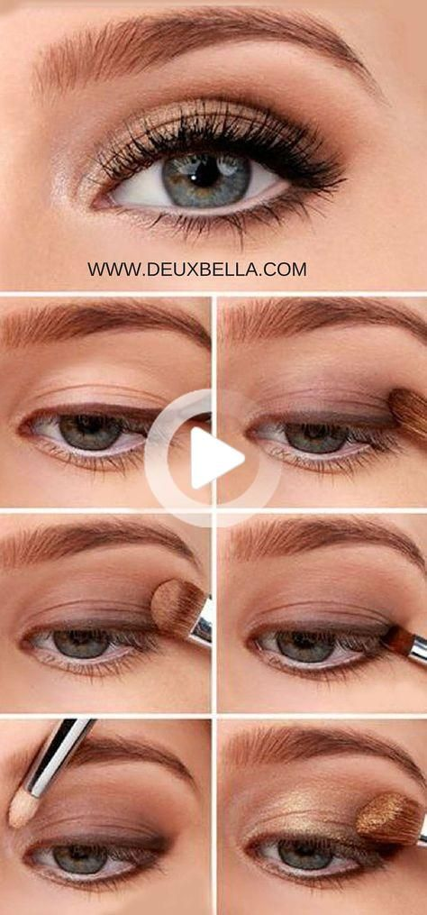 Easy Natural Eye Makeup anyone can do. Step by step eye makeup how-to. This site has lots of video