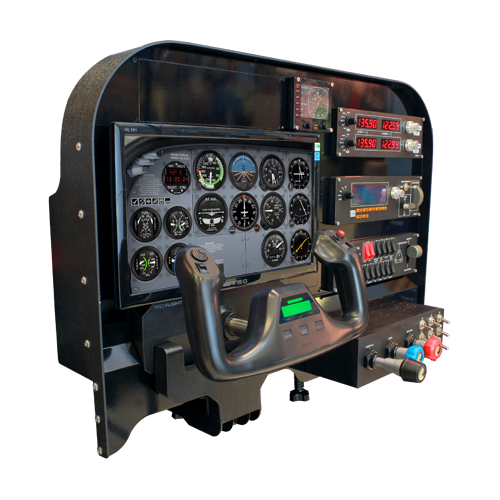Flight training cockpit advanced panel aviation