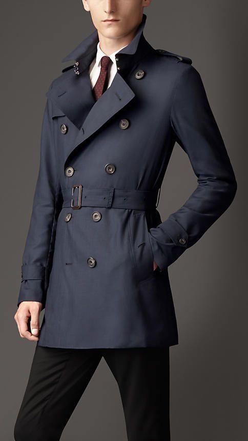 Burberry Trench Coat, Navy Trench Coats Mens