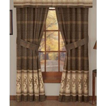 Delightful Browning Buckmark Curtains, Drapes.
