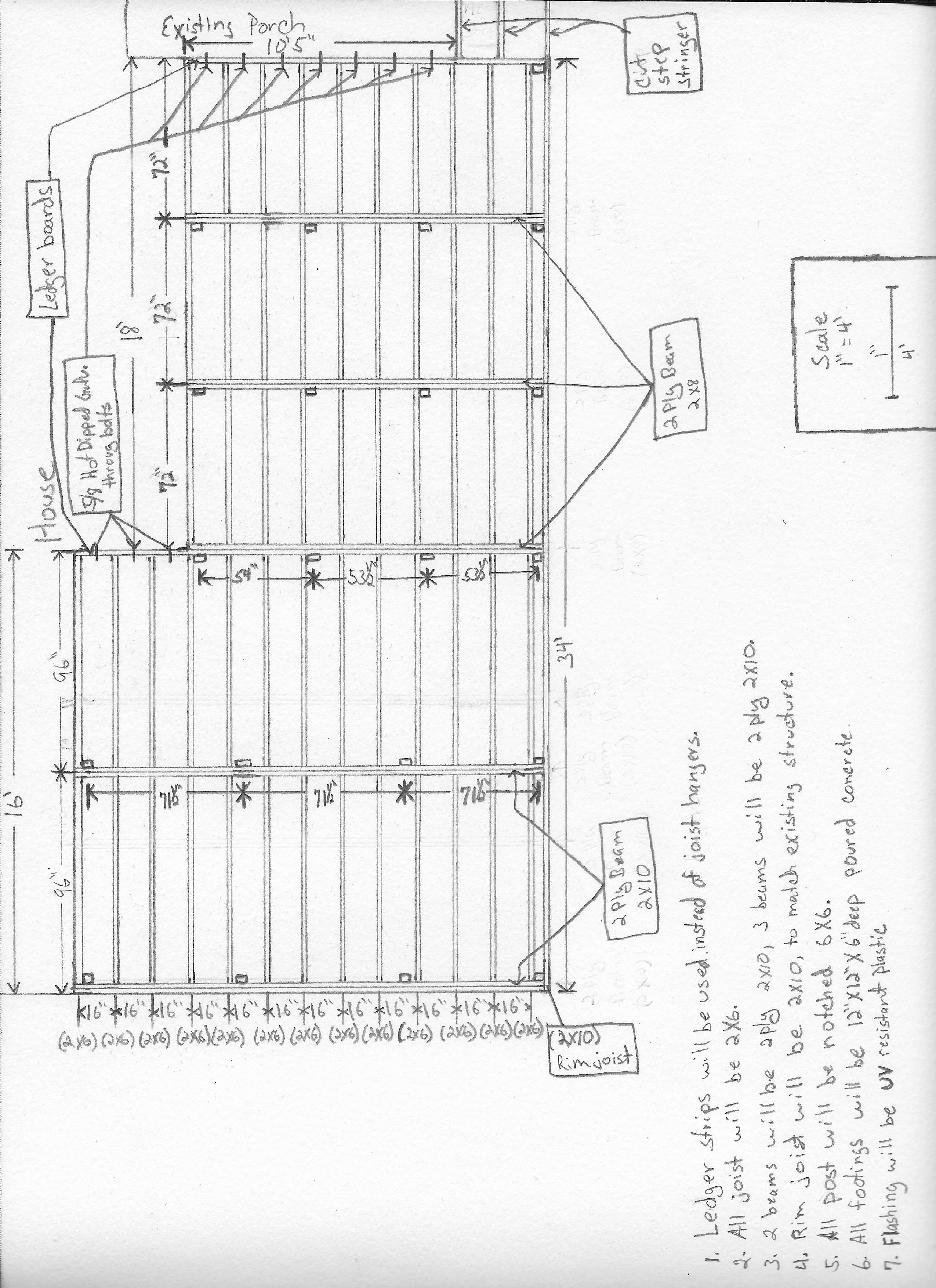 large deck frame   Deck, Drawings, FramePinterest