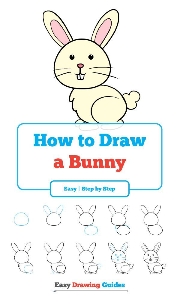 How to Draw a Bunny in a Few Easy Steps   Bunny drawing ...