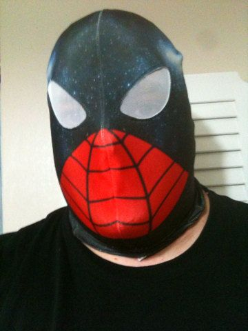 SpiderMan/Capt Universe mask by AtomicWear on Etsy, $50.00