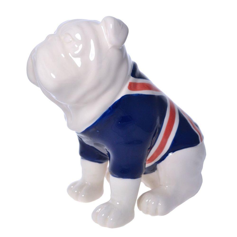 British Bulldog Money Box Piggy Bank union jack coat Harvey Makin - Boxed hm159