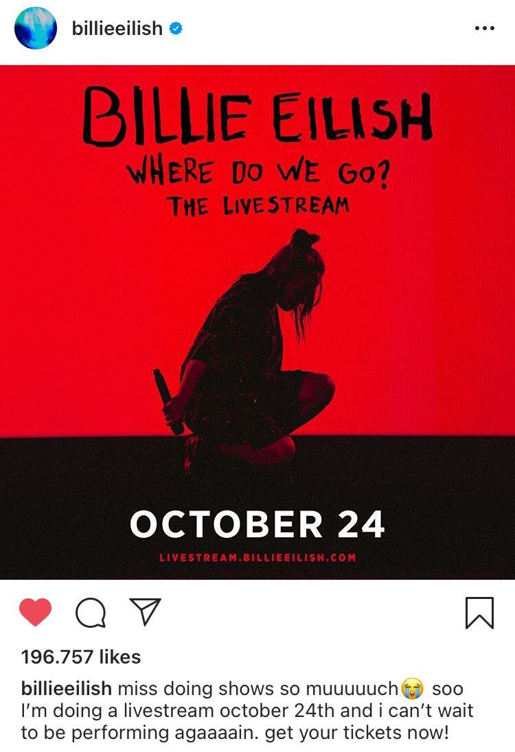 10 07 2020 In 2020 Billie Billie Eilish Love You Very Much