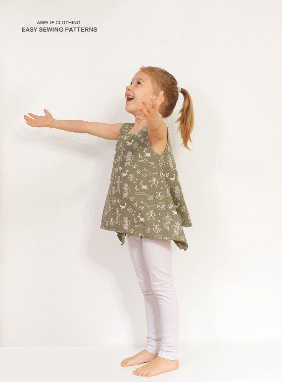 PDF Tunic pattern - girls blouse l hippie shirt tutorial - 2 to 9 ...
