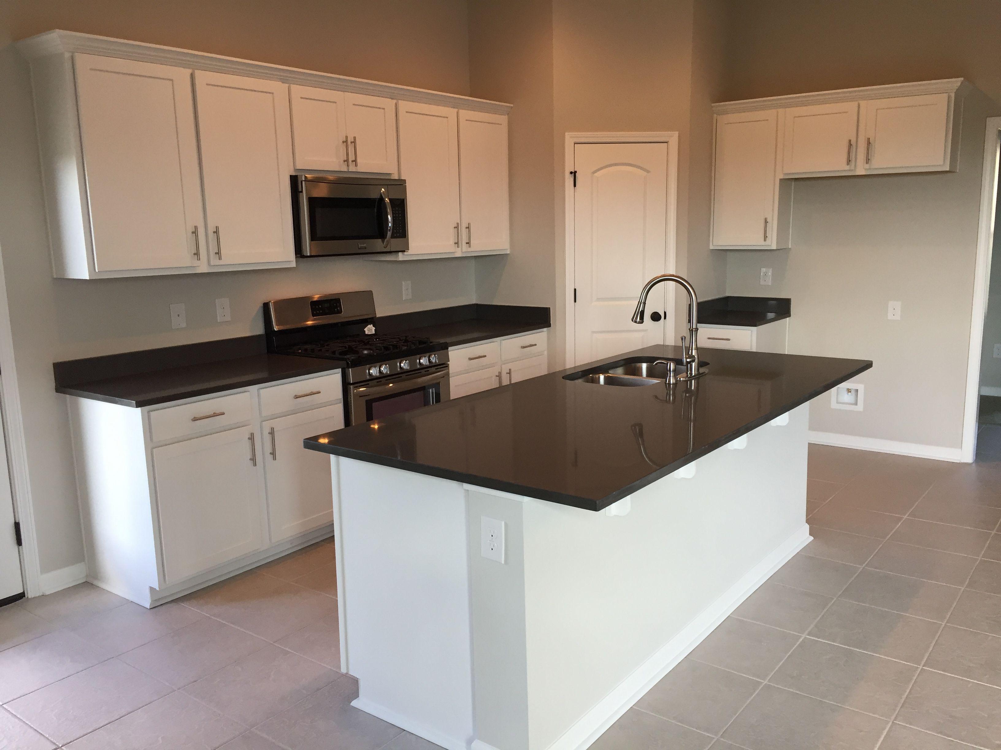 Oxford kitchen, white cabinets, graphite quartz counters ...