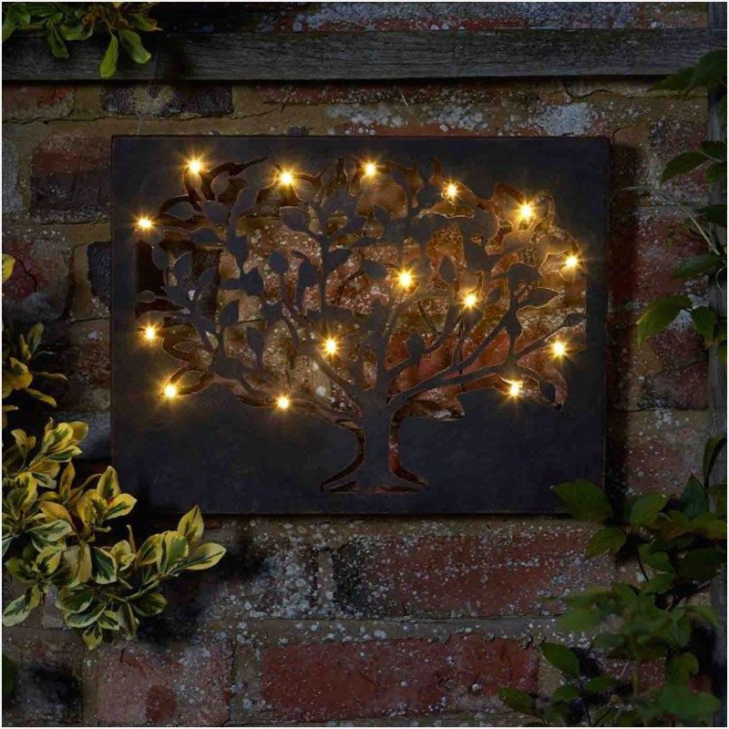 41 Amazing Ideas Outdoor Wall Decor That Will Amaze You Homenthusiastic Metal Tree Wall Art Outdoor Wall Decor Led Wall Art