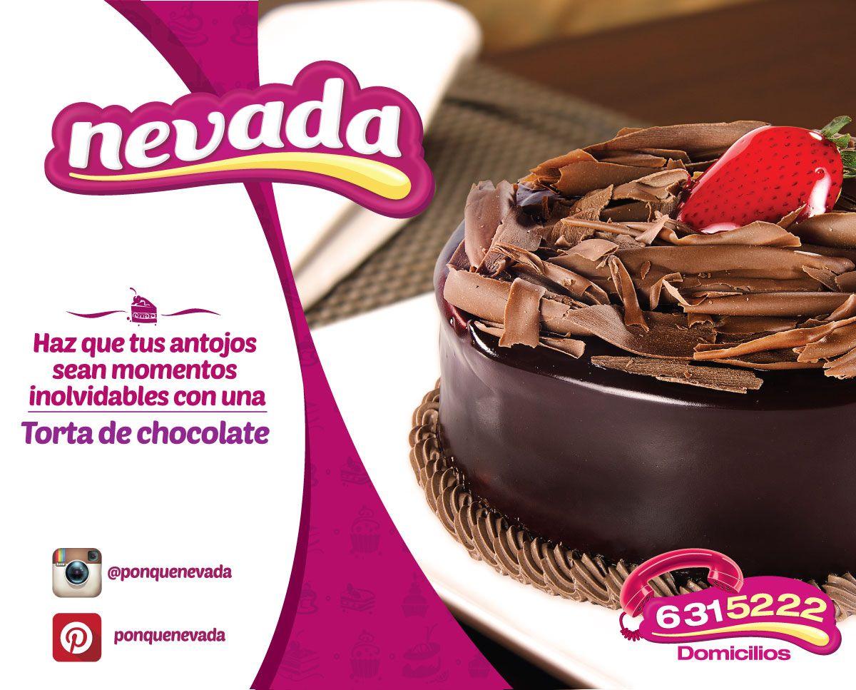 Torta de chocolate nevada   Tortas   Pinterest