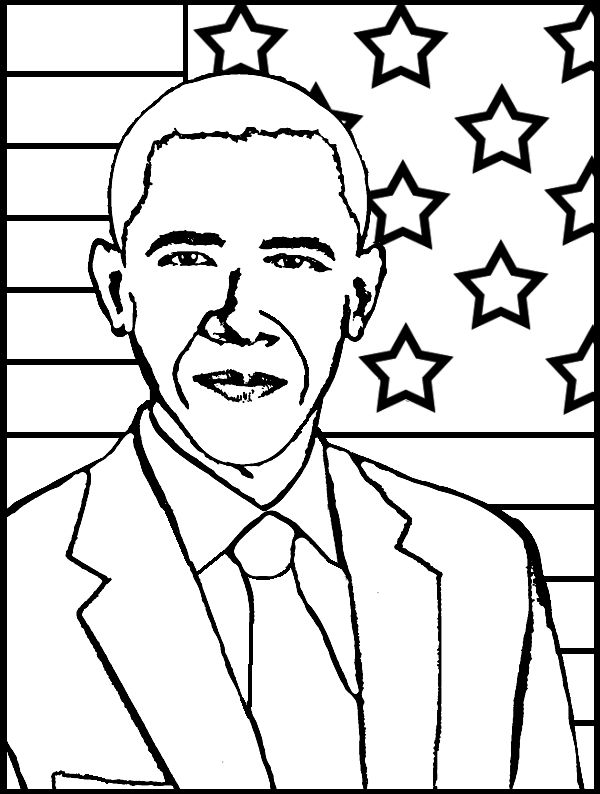Coloring Page Maya Angelou. Barack Obama  President of USA Coloring Page and Vice Joseph Biden Coolest barack obama coloring pages printable http
