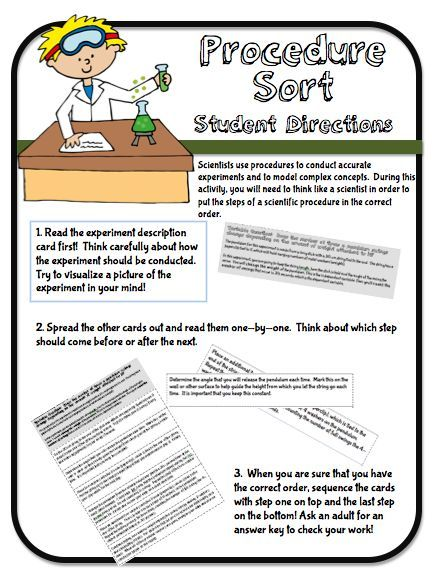 Free Download For Teaching About Science Procedure And The Scientific Method Writing In Proces Skill Procedural Skills Essay On