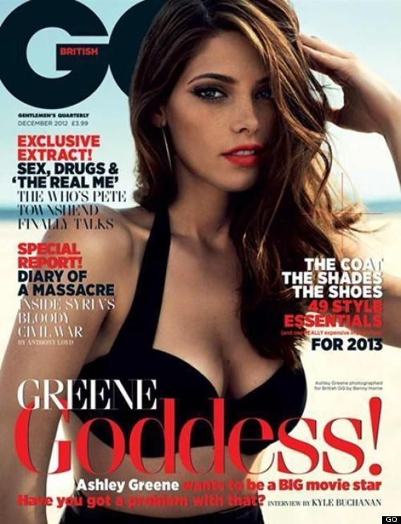 Ashley Greene looks gorgeous as she channels 1940′s pin-up girl glam on the Decemeber issue of Britsh GQ.