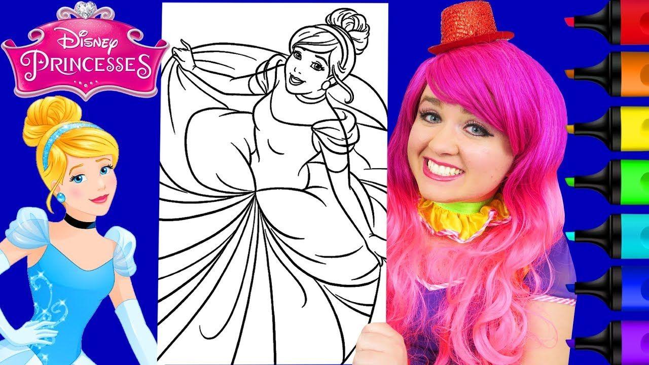 Coloring Cinderella Disney Princess Giant Coloring Page Crayola Crayons Cinderella Disney Disney Princess Disney Colors