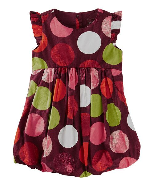 This darling dress showcases fluttery angel sleeves, a fun bubble skirt and a pretty polka dot print, all crafted in soft cotton, so it's as comfy as it is cute.100% cottonMachine washImported