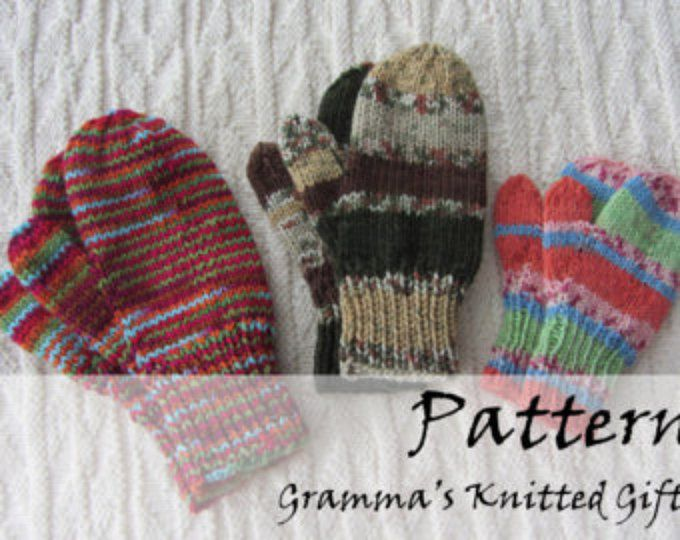 Knitting PATTERNS - Easy Two Needle Mittens Pattern ...