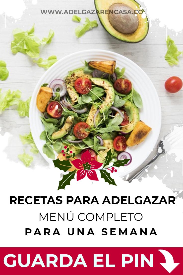 Recetas para adelgazar: menú completo para una semana