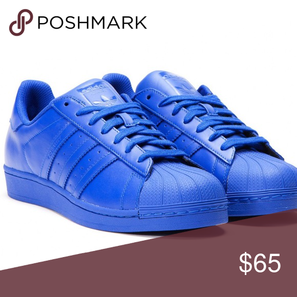 low priced 372b0 da871 Adidas x Pharrell Williams Superstar Supercolor Adidas x Pharrell Williams  Superstar Supercolor Size  11 Color Bold Blue Gently used. No flaws.