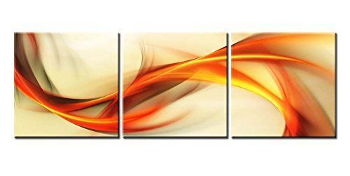 K&N - Abstract Wave Canvas Printed Wall Art Giclee Decor Photo ...