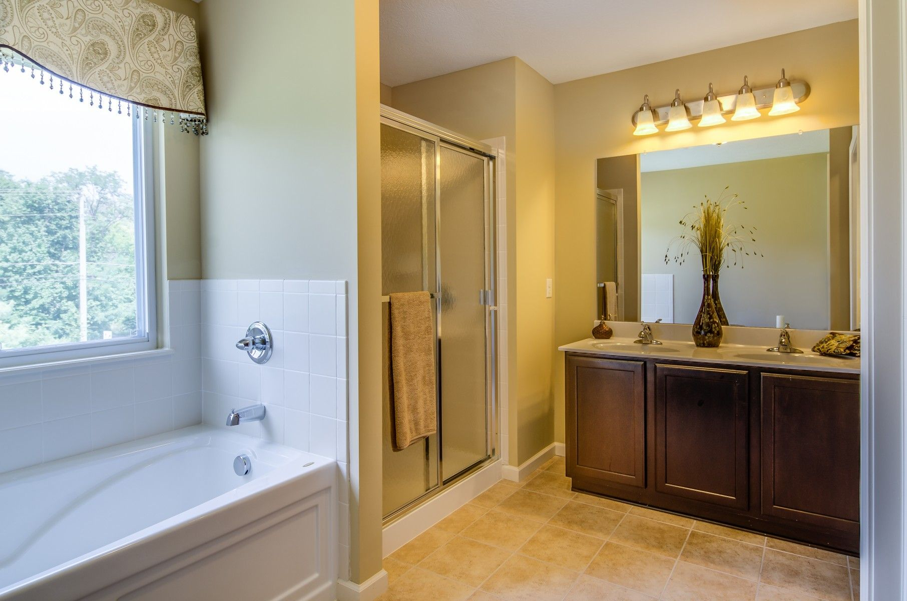 Master Bathroom  Soaking Tub  Walk In Shower  Dual Sinks Magnificent Bathroom Design Columbus Ohio 2018