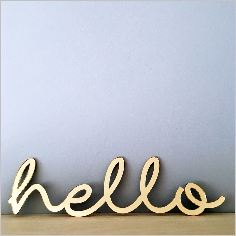 Image of Hello acrylic sign
