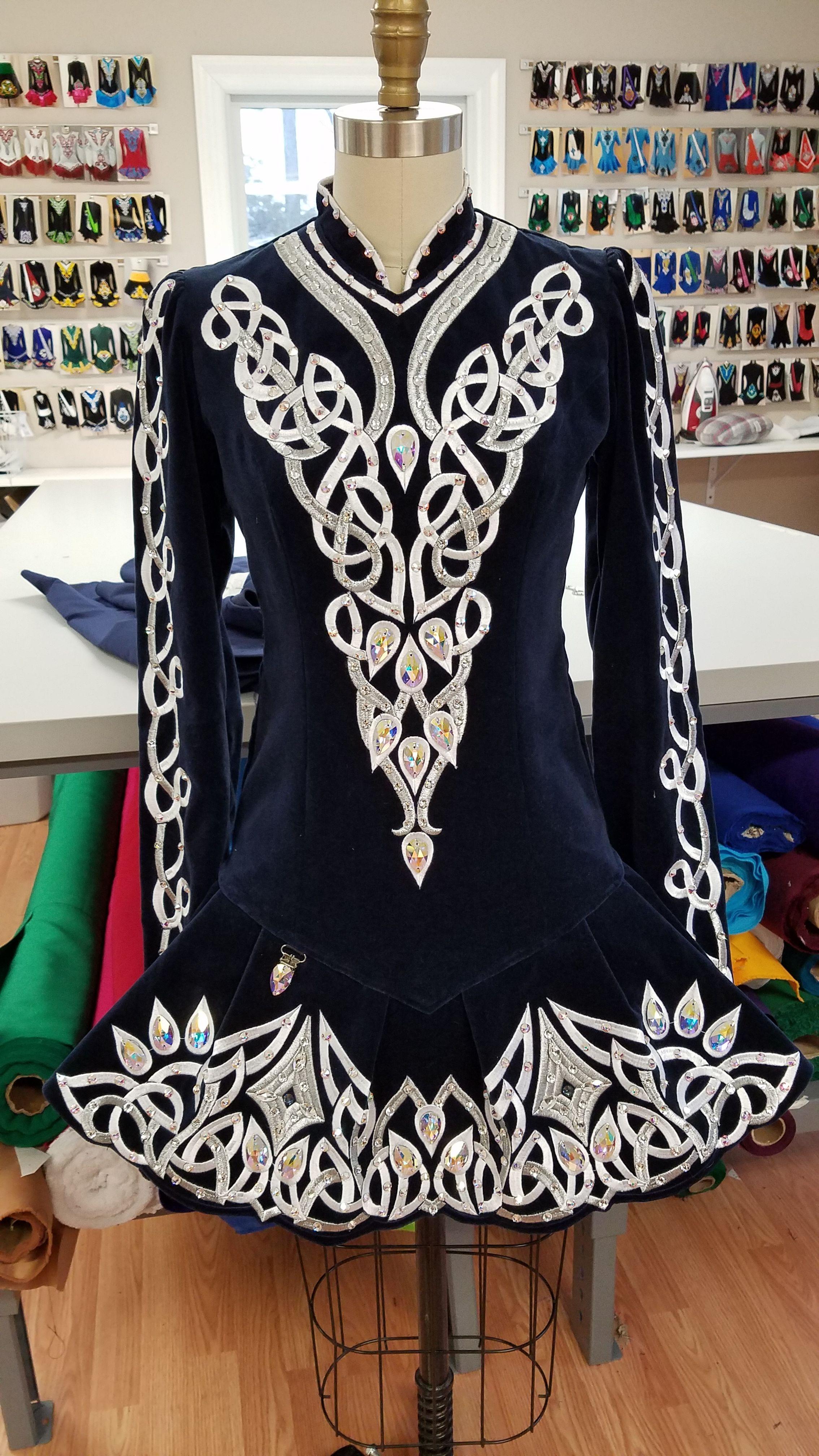 Gorgeous Navy Blue Irish Dance Solo Dress By Prime Dress