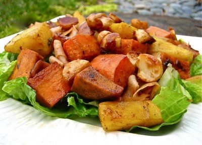 My Own Sweet Thyme: Roasted Sweet Potatoes and Pineapple with Macadamia Nuts