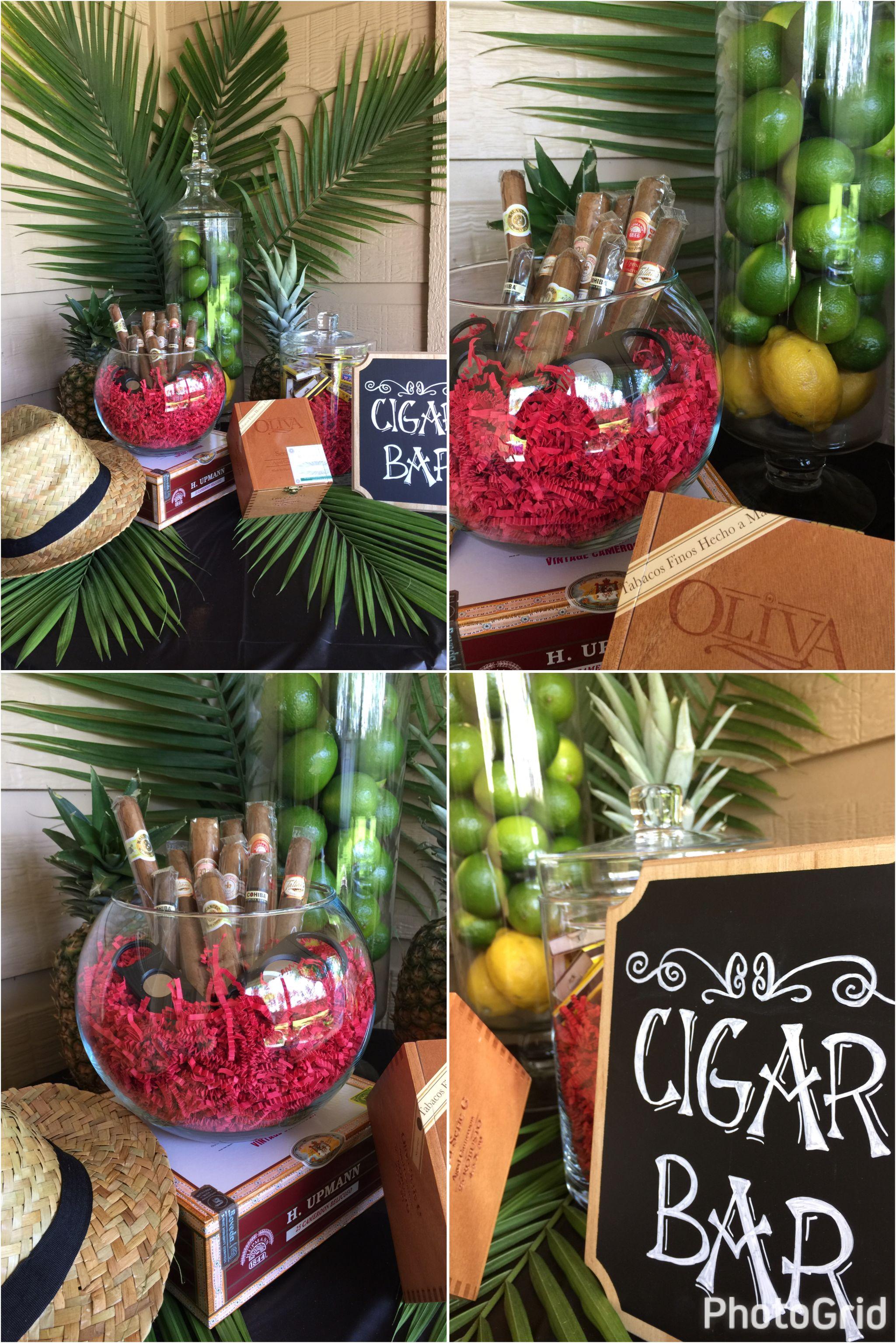 Cigar Bar For My Husband S Havana Nights Themed Birthday Party