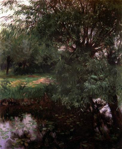 A Backwater at Wargrave - John Singer Sargent Completion Date: 1887
