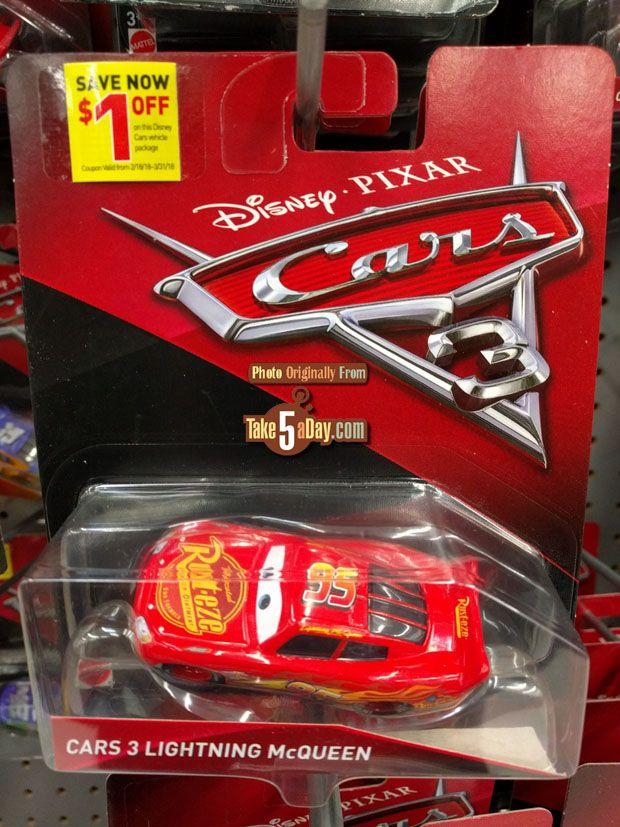 Mattel Disney Pixar CARS 3: In Store $1 Singles Diecast Coupon