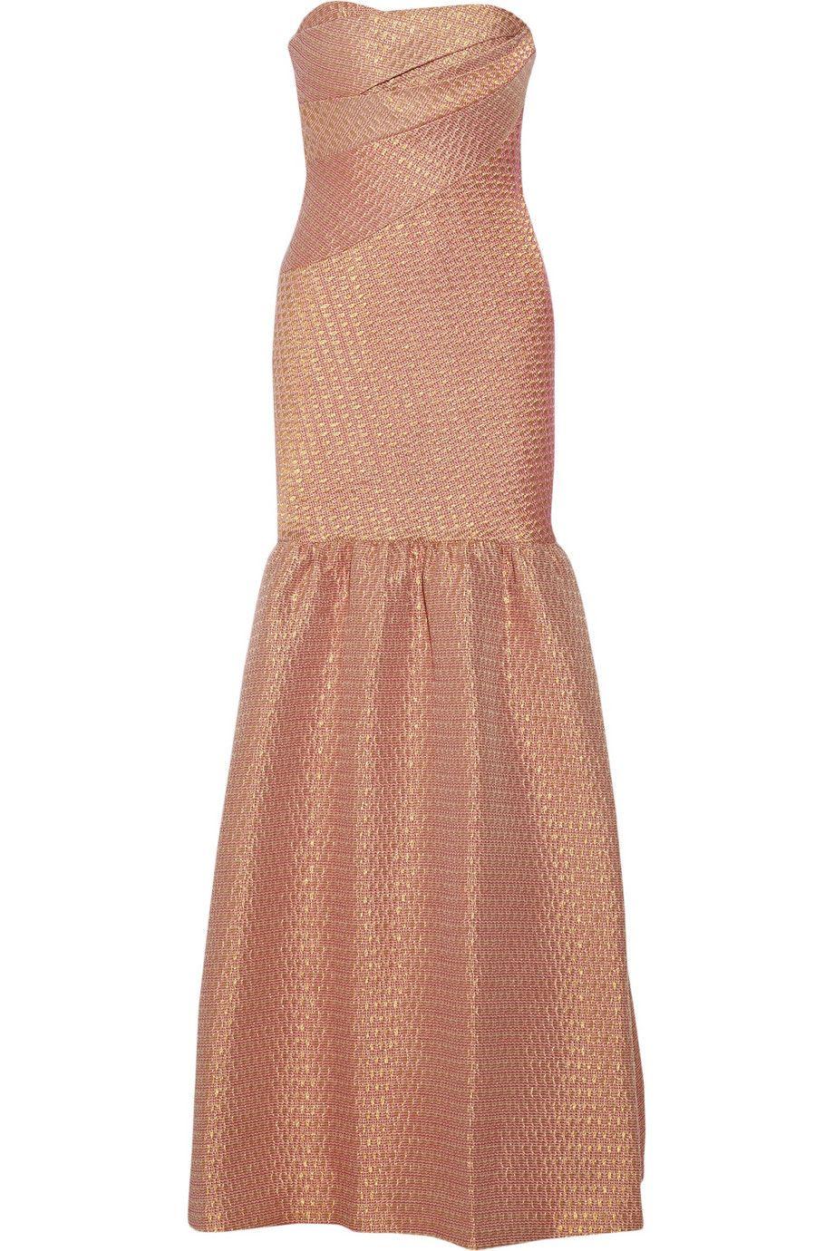 Notte by marchesa metallic brocade gown netaportercom gowns