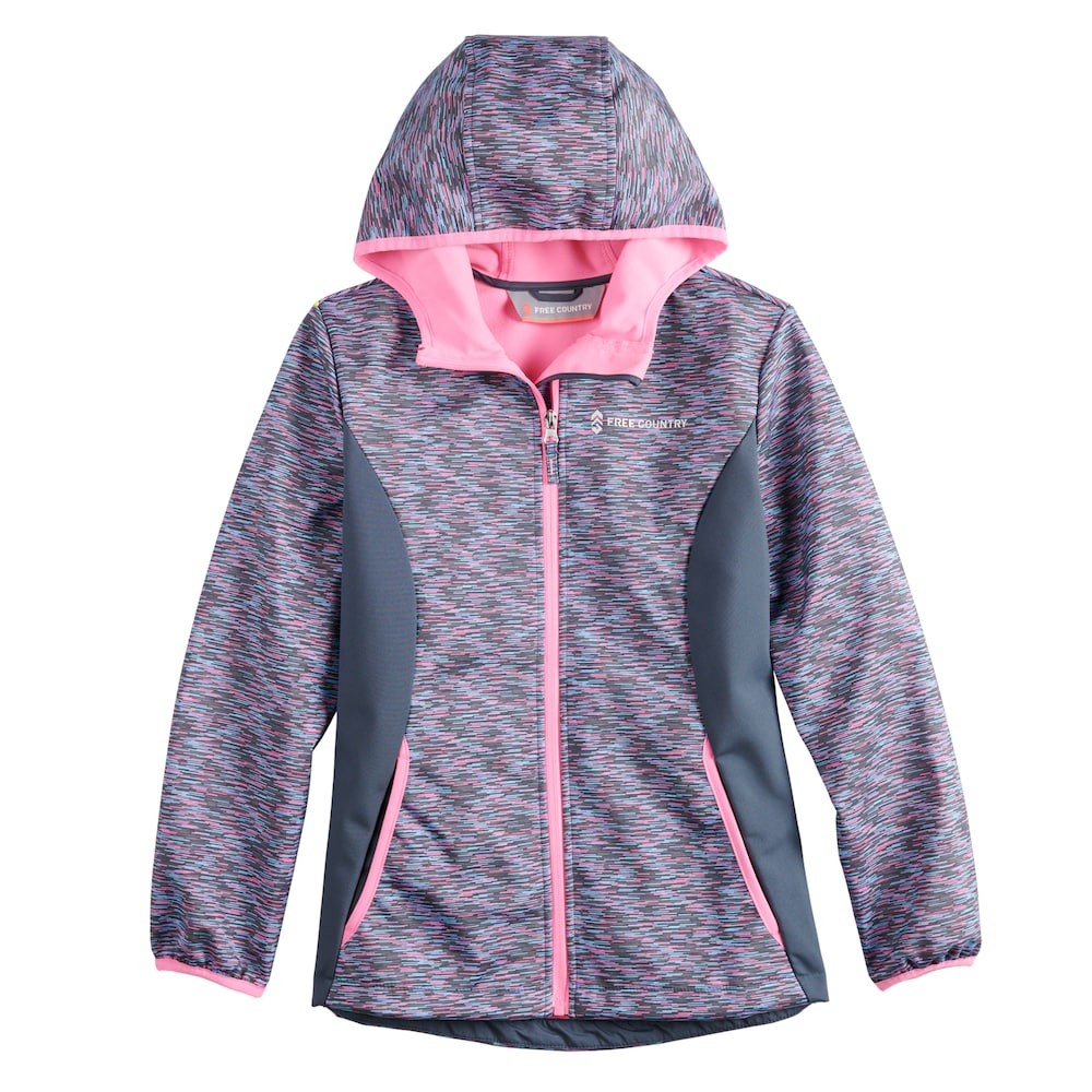 Girls 4 16 Free Country Softshell Fleece Lined Lightweight Jacket Lightweight Jacket Jackets Girls 4
