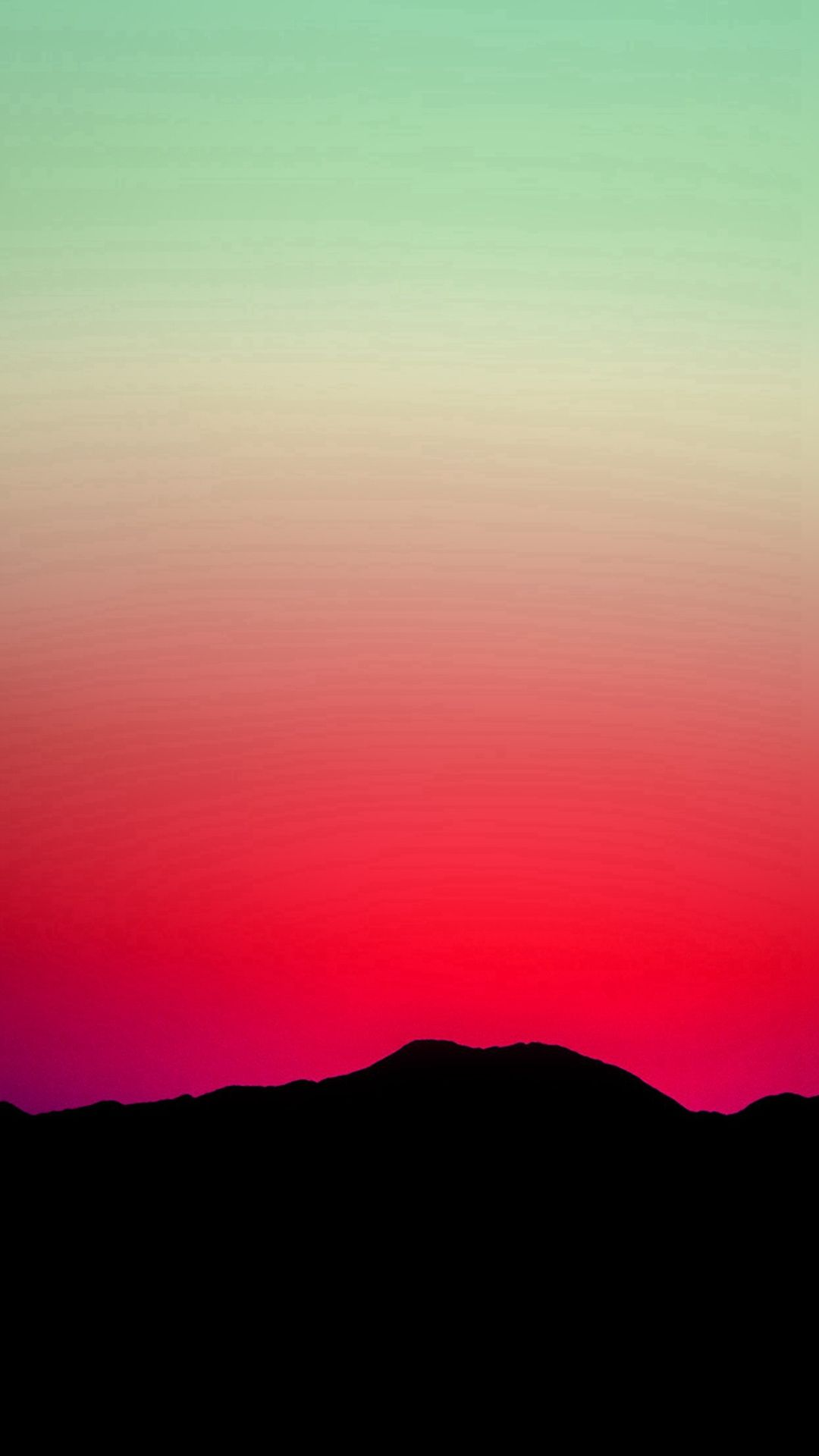 Sunset Sky Minimal Nature Red Green Iphone 6 Wallpaper Sunset Sky Wallpaper Green Wallpaper