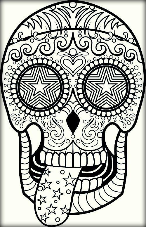 free sugar skull mandala pictures | kostenlose