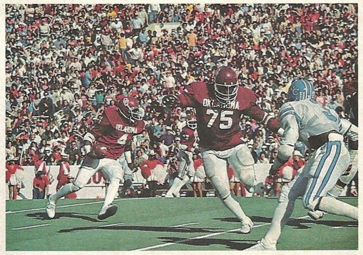 RB Buster Rhymes 4 & OL Terry Crouch 75 of Oklahoma v