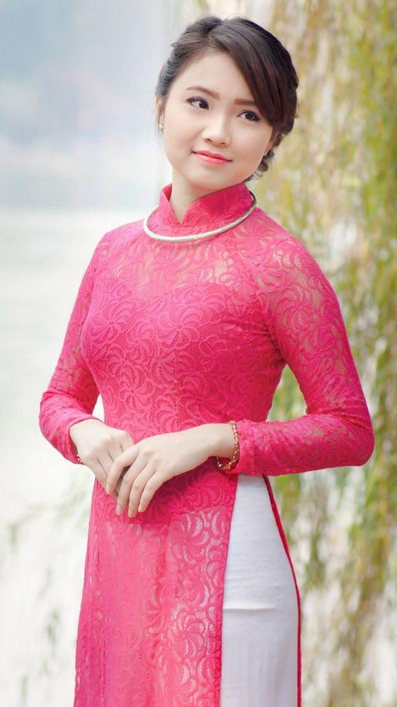 Vietnamese long dress | Dress: Vietnamese Ao Dai | Pinterest