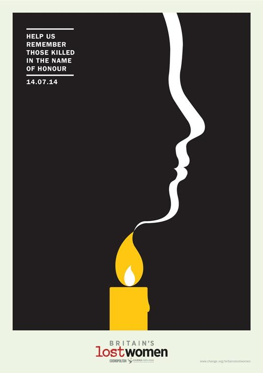 Potent posters highlight issue of 'honour killings' | Graphic ...